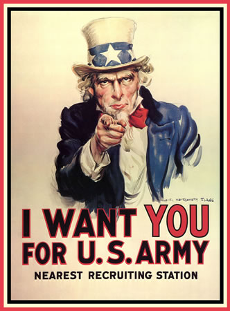 Uncle Sam Wants You by James Montgomery Flagg