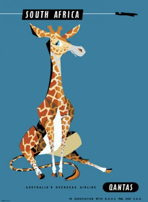 Qantas Africa Giraffe by Harry Rogers