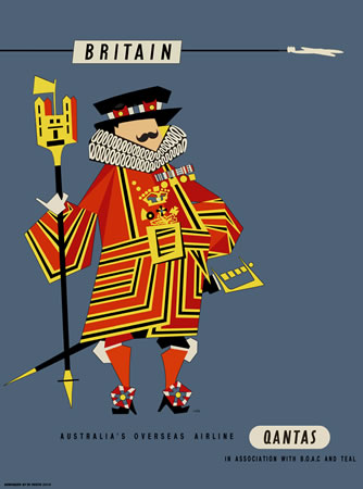 Qantas Britain Beefeater by Harry Rogers