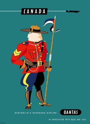 Qantas Canada Mountie by Harry Rogers