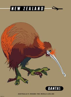 Qantas New Zealand Kiwi by Harry Rogers