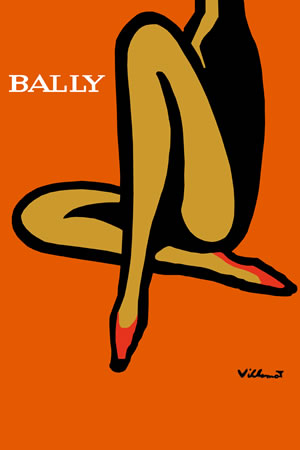 Bally Orange by Bernard Villemot