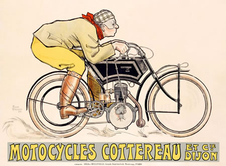 Motocycles Cottereau by Rene Vincent