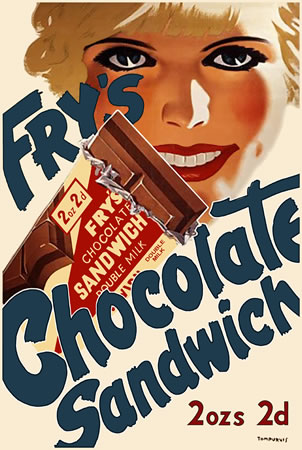 Fry's Chocolate Sandwich by Tom Purvis