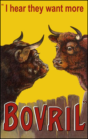 Bovril - 2 Worried Bulls by  anon