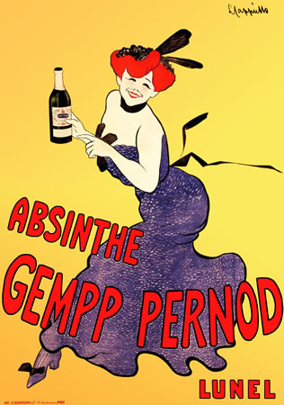 Absinthe Gempp Pernod by Leonetti Cappiello