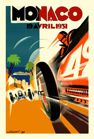 Monaco Grand Prix 1931 by Robert Falcucci